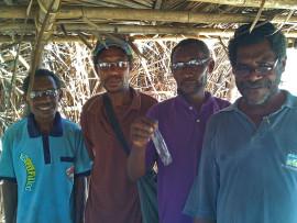 Donated reading glasses for the men