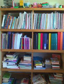 Donated stationery for new school