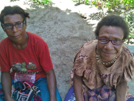 Donated reading glasses for the women