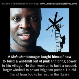 Teenager from Windmaria builds windmills from scraps