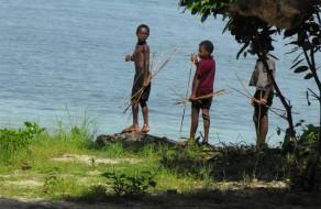 Village kids fishing